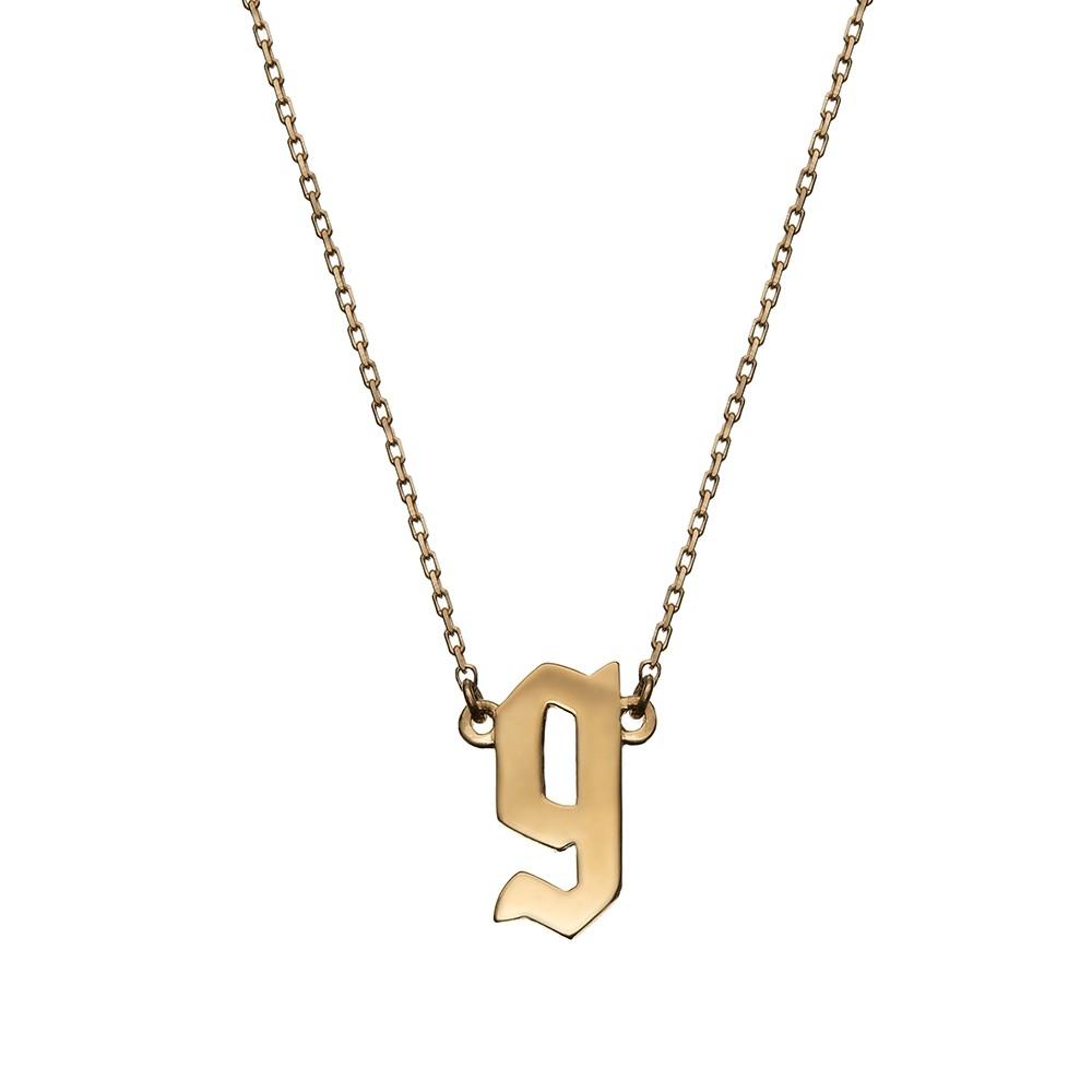 Naszyjnik BELIEVE srebrny pozłacany z literą G