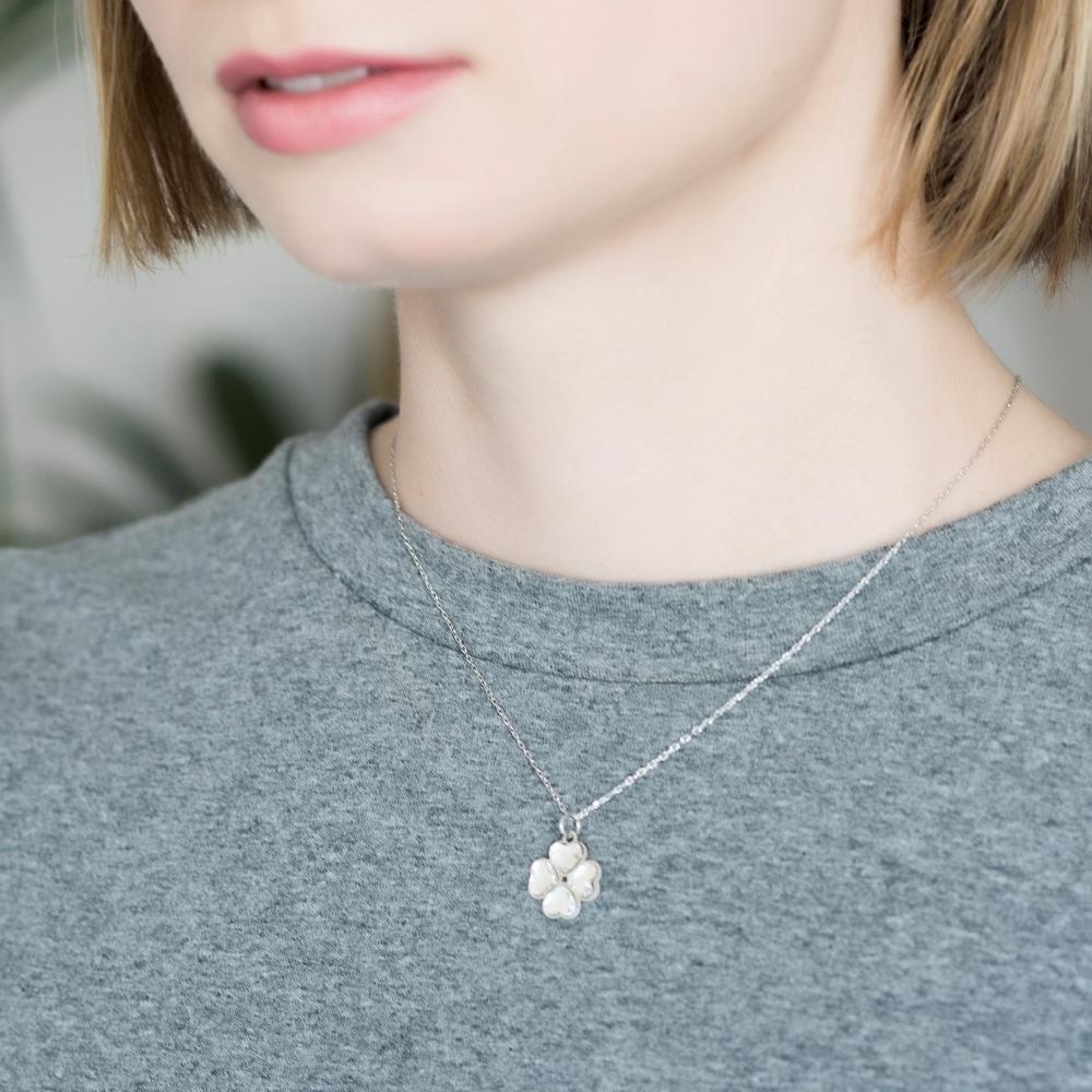 Naszyjnik VENUS srebrny z Kryształem Swarovskiego