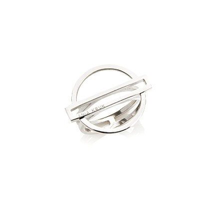 Pierścionek FRAMES srebrny z kółkiem