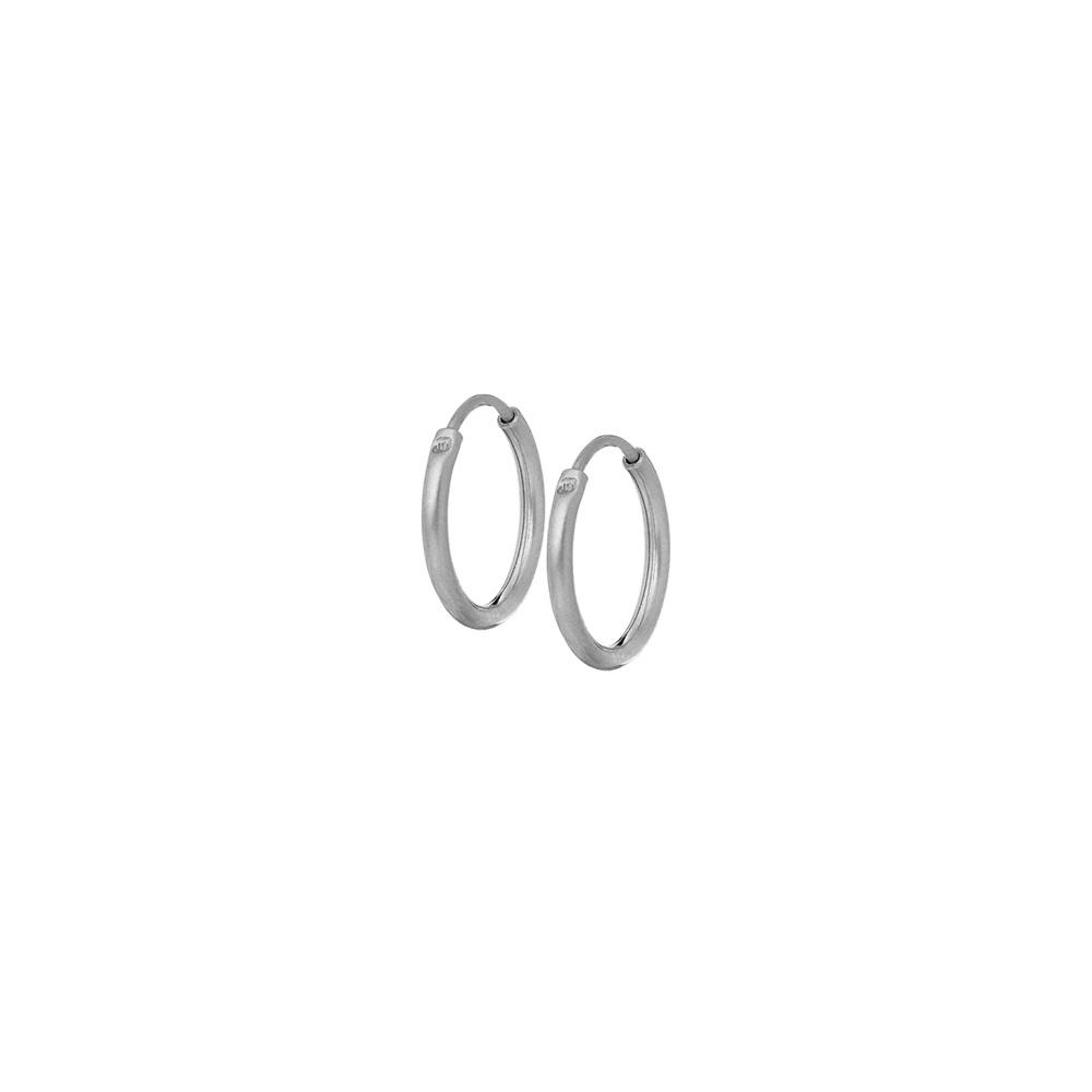 Kolczyki TRENDY srebrne koła 1,5 cm